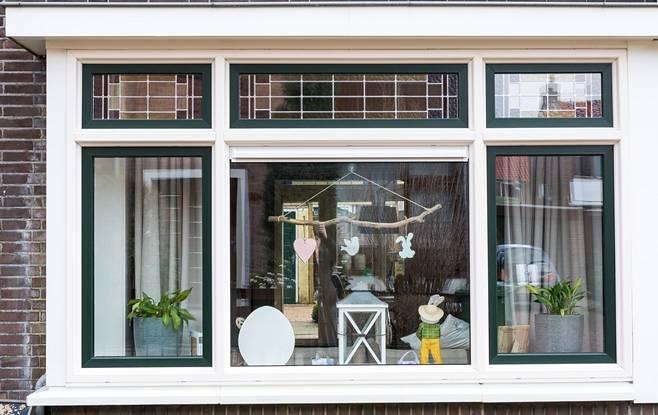 kunststof kozijnen met glas-in-lood